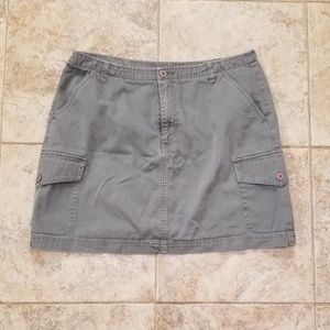 Dresses & Skirts - Good Condition Army Green Mini Skirt with Pockets